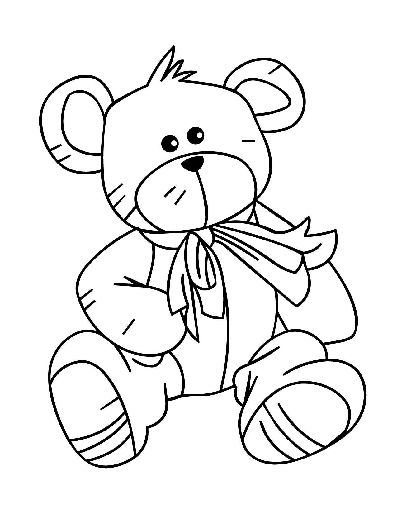 Teddy bear colour in coloring pages pinterest teddy bear