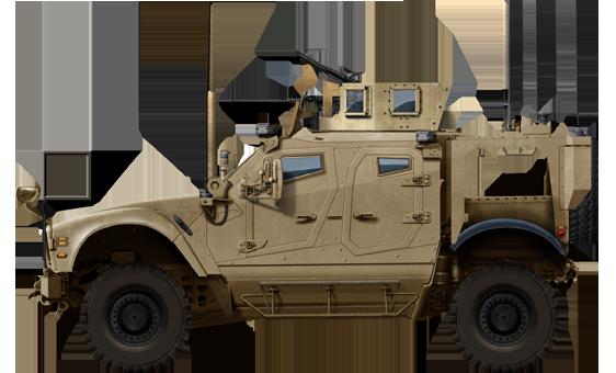 Standard Oshkosh MAT-V SXB vehicle armed with a cal.50