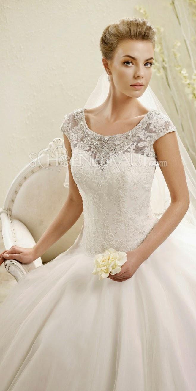 Klassisch Brautkleider Elegant Spitze Hochzeitskleid A Linie ...