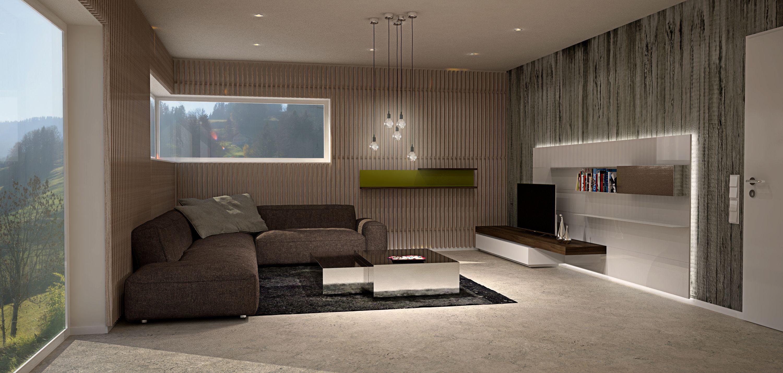 Innenarchitektur Loftwohnung Penthouse Esszimmertisch
