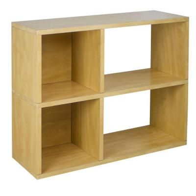 Way Basics Chelsea 2 Shelf 12 X 32.1 X 24.8 ZBoard Bookcase, Tool Free  Assembly Cubby Storage In Natural Wood Grain