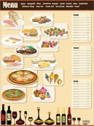 restaurant menu design 01 vector White Dora Pinterest
