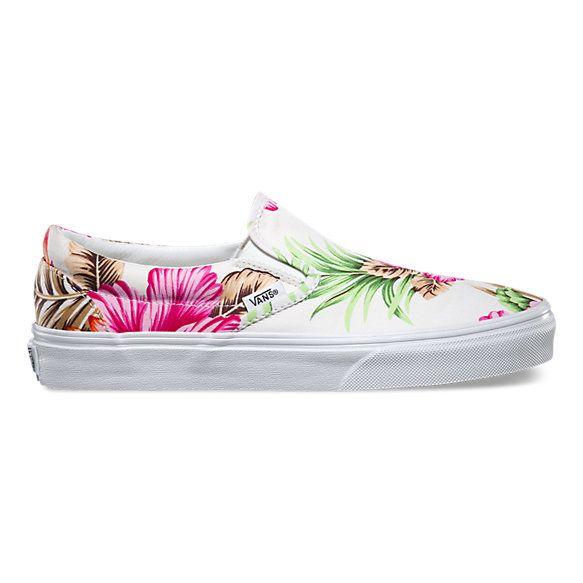 Hawaiian Floral Slip-On   Shop Shoes At