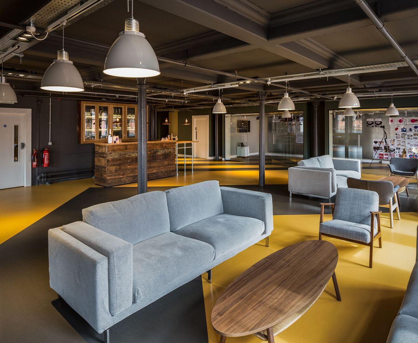 Office Tour Love Creative Offices Manchester Kitchen Bar Design Interior Design Furniture Furniture Design