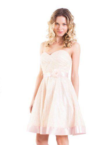 Sweetheart Strapless Lace Baby Doll with Satin Rose Waist and Hem (4, Blush) JUMP,http://www.amazon.com/dp/B00AR875JE/ref=cm_sw_r_pi_dp_8iz6rb15KCRQFAZY