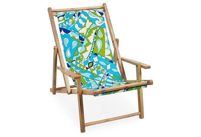 Reversible Beach Chair, Blue