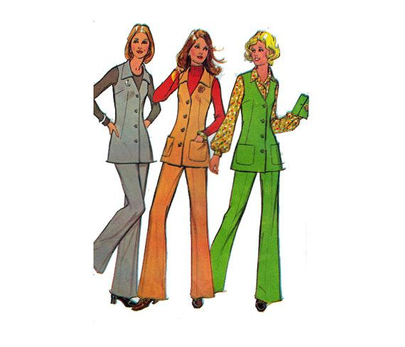 Vintage 70s Sewing Pattern For KNITS VEST and by HoneymoonBus, $7.99 ...