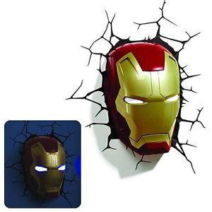 Marvel heroes avengers licensed iron man helmet 3 d deco wall light marvel heroes avengers licensed iron man helmet 3 d deco wall light night light aloadofball Gallery