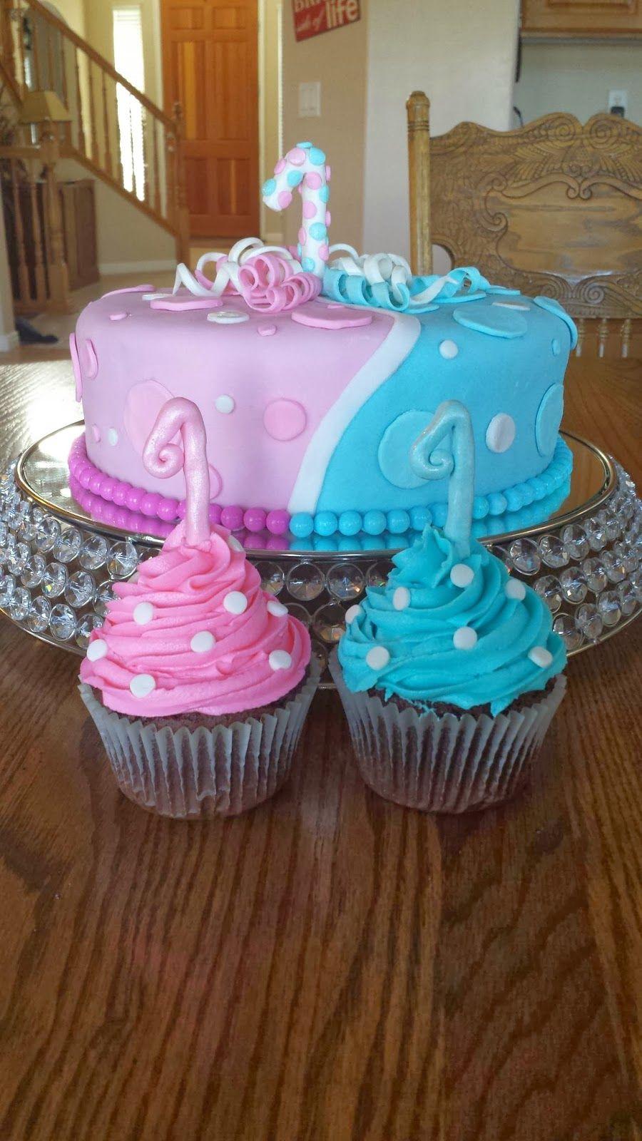Twin's Birthday Cake Twin birthday cakes, Girls first