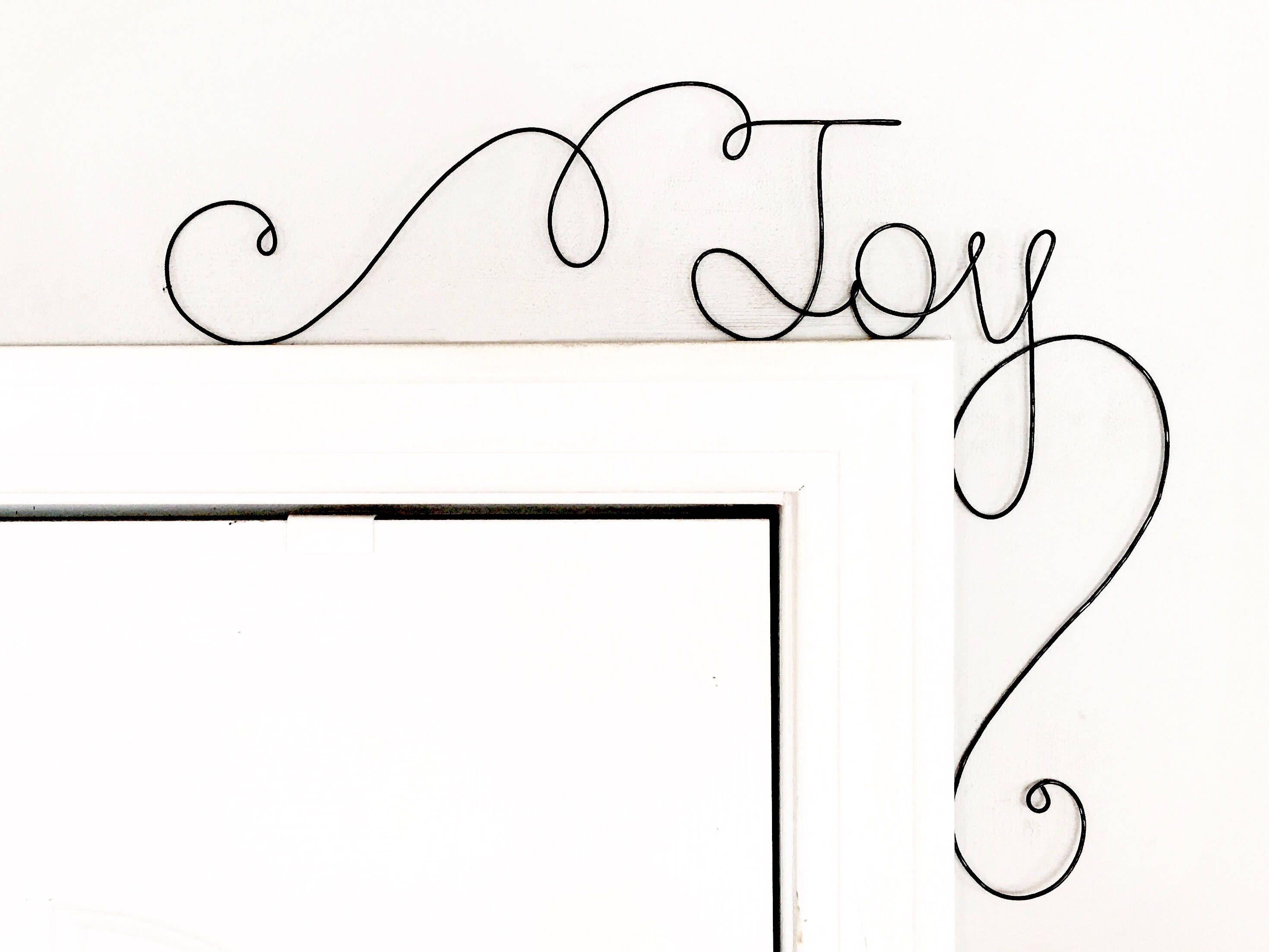 Joy unique holiday door sign unique over the door joy wall word