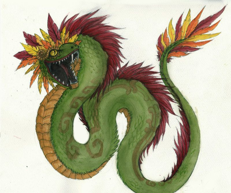 quetzalcoatl the feathered serpent by abandonskull on deviantart snake feathered serpent. Black Bedroom Furniture Sets. Home Design Ideas