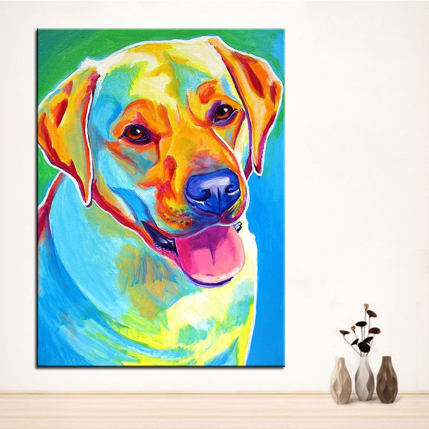 My Missy Labrador Pop Art Decorative Canvas Wall Poster Colorful Pet