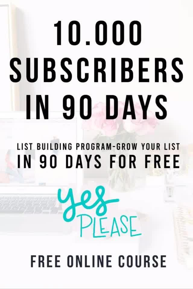 10k Email Subscribers in 90 Days