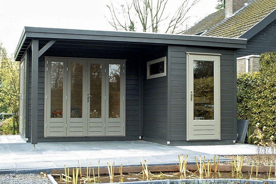 lugarde platte daken serie tuinhuis prima linda 480 x 480 cm houten tuinhuizen en blokhutten. Black Bedroom Furniture Sets. Home Design Ideas