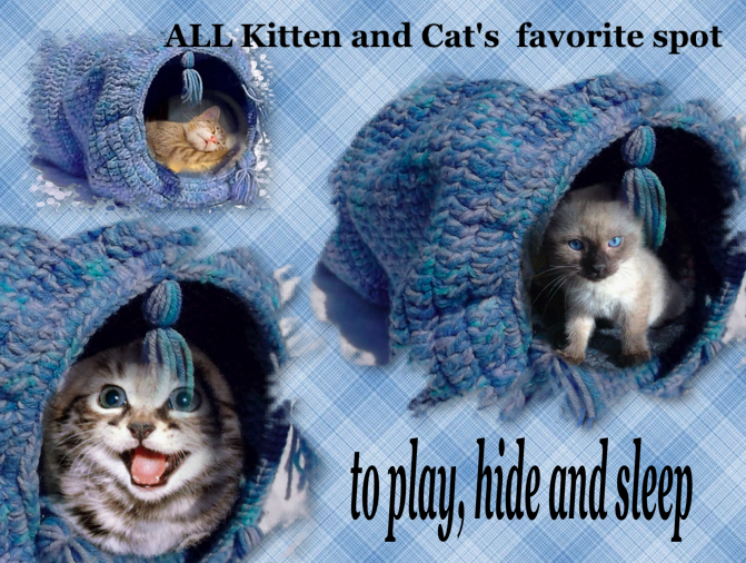Cat Play Tunnel ... by Patterns Tried and True | Crocheting Pattern - Looking for your next project? You're going to love Cat Play Tunnel Easy Crochet pattern by designer Patterns Tried and True. - via @Craftsy