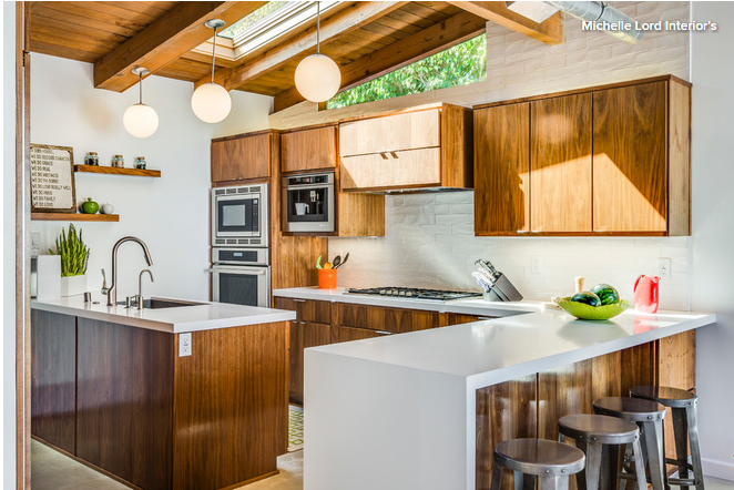Best Remodeled Warm But Bright Mid Century Kitchen In 400 x 300