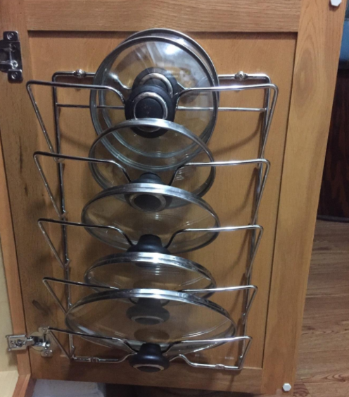 Mount A Pot Lid Rack To Your Cabinet Doors 36 Ways Add Storage Everything You Own