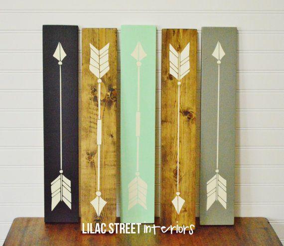 Rustic Wood Arrows, Wood Sign, Aztec, Tribal, Trendy, Modern, Home ...