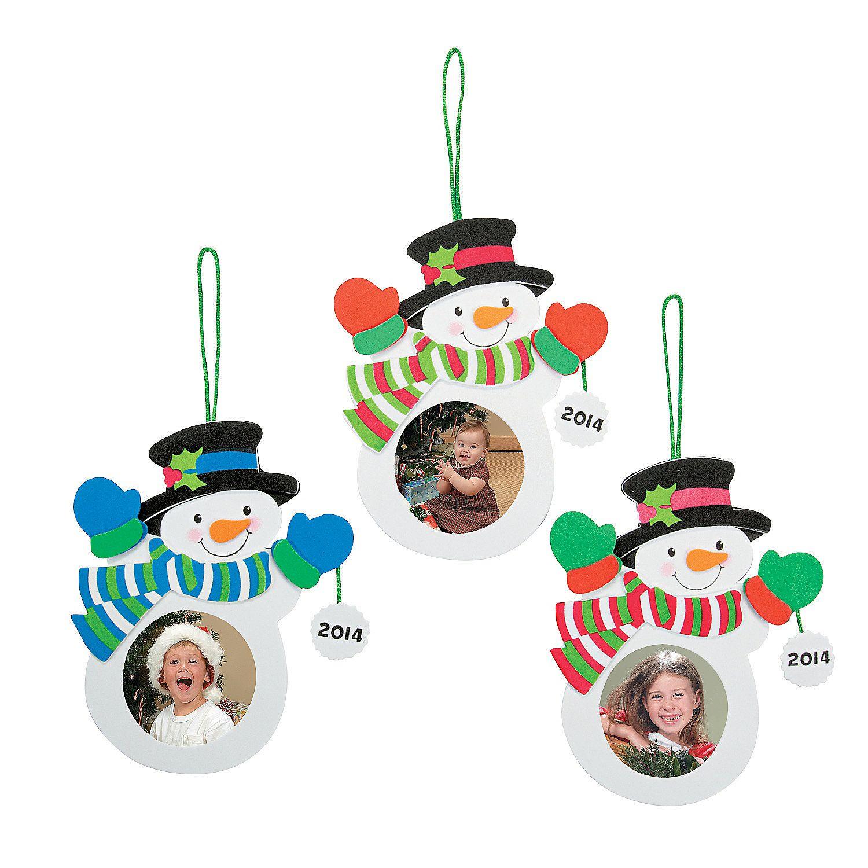 20142015 Snowman Picture Frame Ornament Craft Kit  Orientaltradingcom
