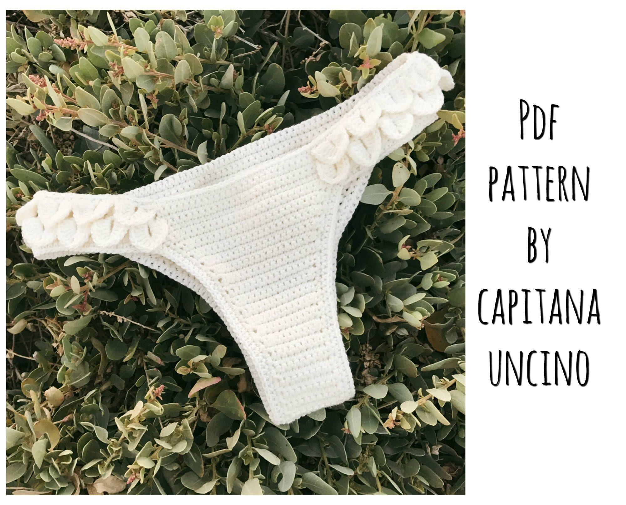 PDF-file for Crochet PATTERN Ariella Brasilian Bikini Bottom, Sizes XS-L, Cheeky by CapitanaUncino on Etsy