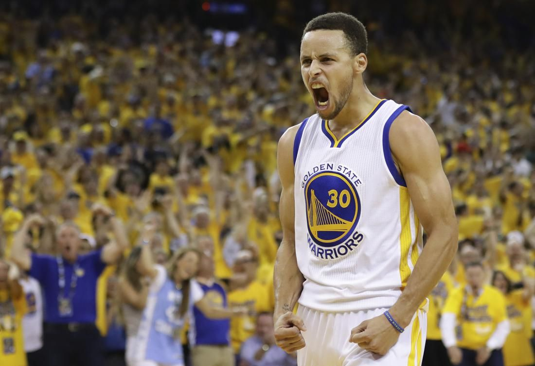 http://heysport.biz/ Stephen Curry #30 of the Golden State Warriors reacts in the third quarter of Game Seven of the Western Conference Finals against the Oklahoma City Thunder during the 2016 NBA Playoffs at ORACLE Arena on May 30, 2016 in Oakland, California.