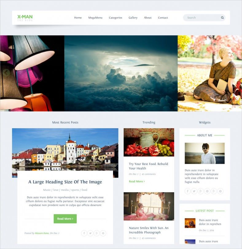 SEO Friendly Personal Blogging Website Template | WEB | simple ...