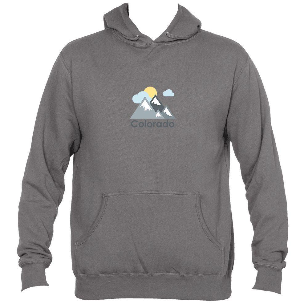 Colorado Mountains and Clouds in Color - Men's Hooded Sweatshirt/Hoodie