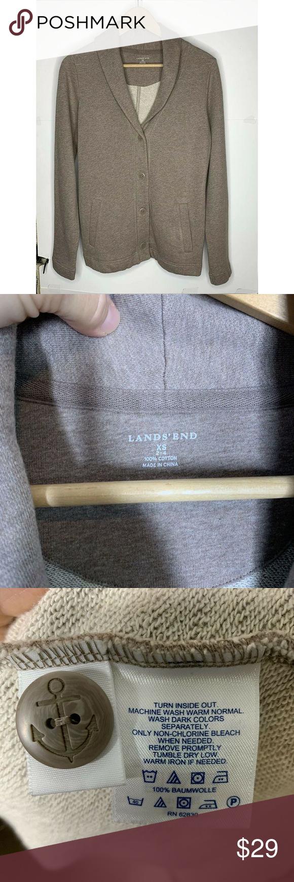 Lands End Womens Sweatshirt Cardigan Xs 2 4 Brown Sweatshirts Women Cardigan Sweatshirts Sweatshirts [ 1740 x 580 Pixel ]