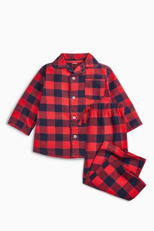 Buy Red/Navy Check Pyjamas (12mths-8yrs) from the Next UK online shop