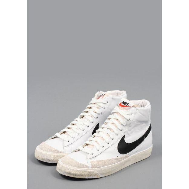 Nike Blazer Shoes Nike Blazer Mid 77 Trainers White/Black (£84.00) - Svpply | Nike ...