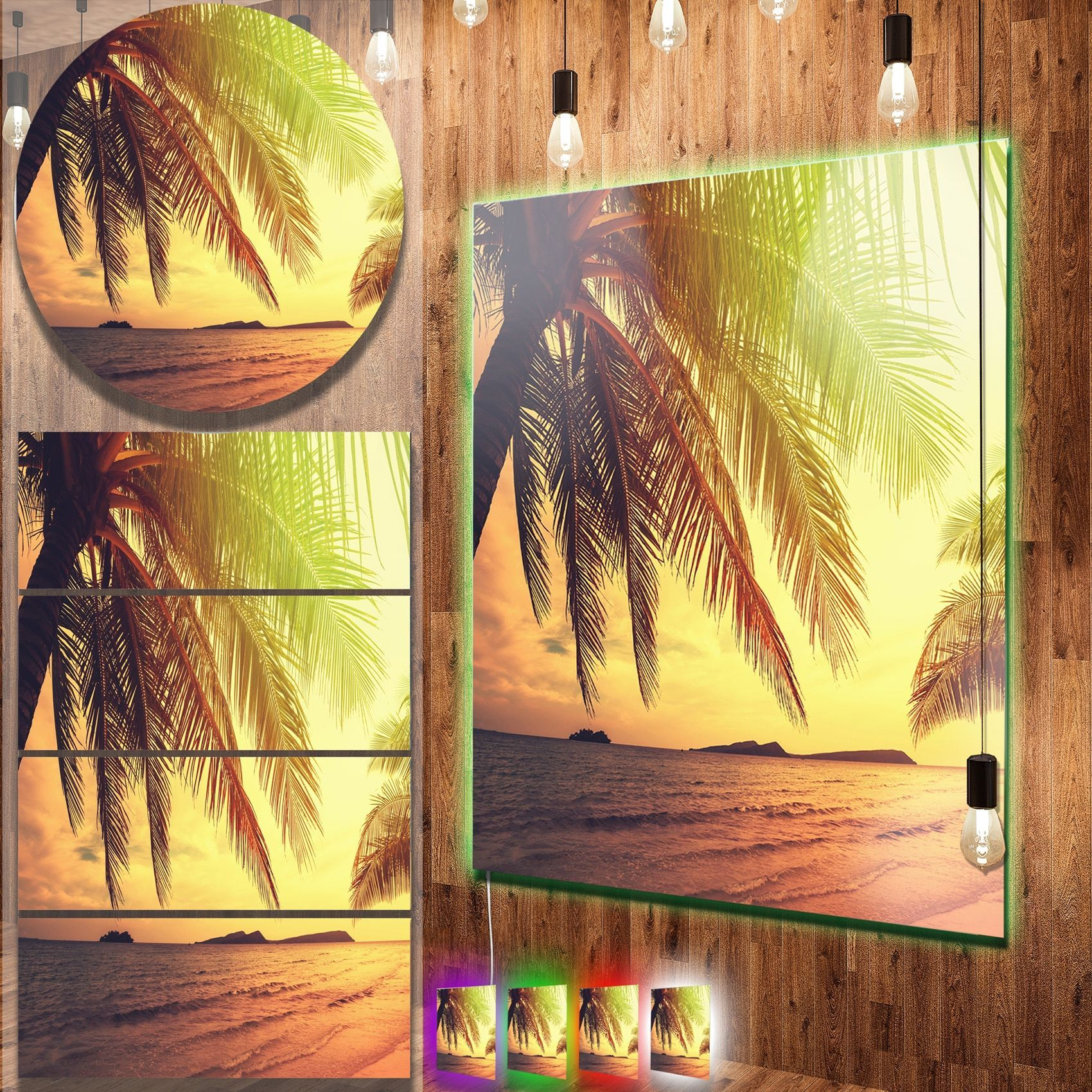Enchanting Palm Tree Metal Wall Art Illustration - The Wall Art ...