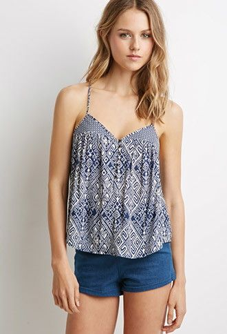 5386609f9d4cab Tribal Print Cami Top | Forever 21 - 2000076719 | Clothing | Tops ...