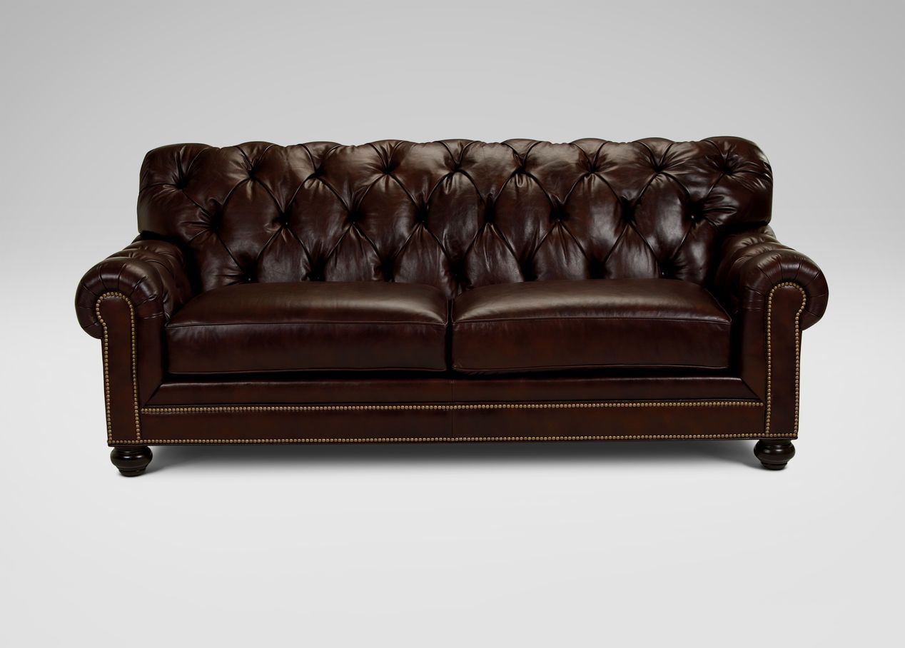 Chadwick Leather Sofa Ethan Allen