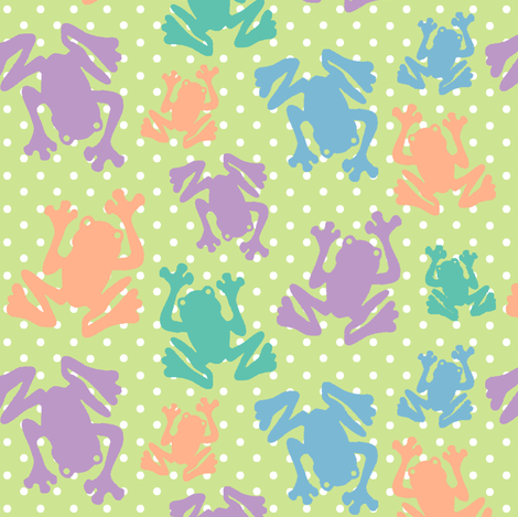 Polka Dot Frogs fabric by fridabarlow on Spoonflower