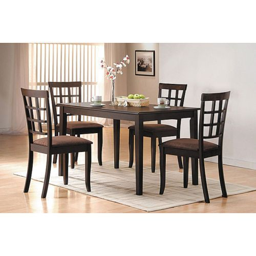 Espresso Finish Side Chair Set Of 2 Furniture Dining Armless Mesmerizing 2 Chair Dining Room Set Design Inspiration