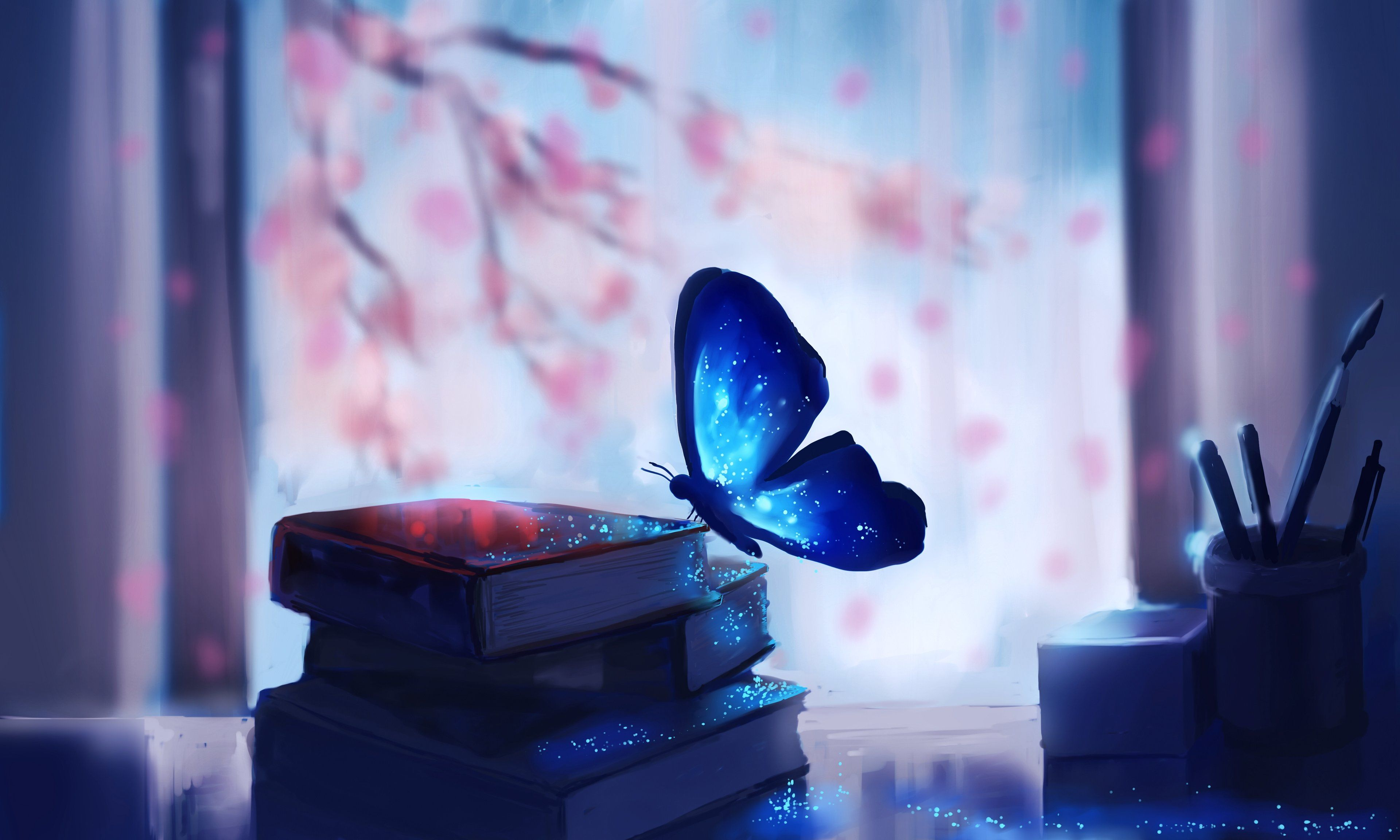 An Excerpt From The Book I Ll Never Write Blue Butterfly Wallpaper Butterfly Wallpaper Book Wallpaper