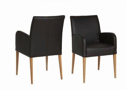 sch ner design stuhl esszimmer mit armlehnen und bezug in verschiedenen stoff und lederarten. Black Bedroom Furniture Sets. Home Design Ideas