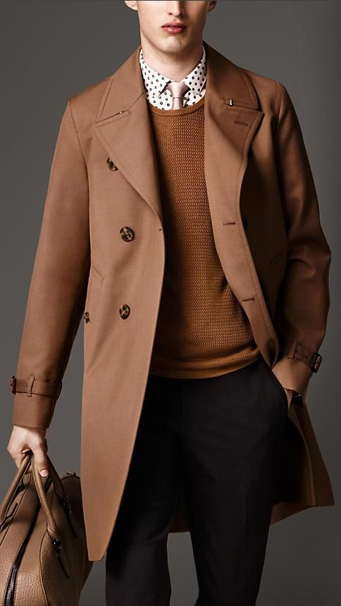 9ff158aa548e Burberry London Long Cotton-Bonded Wool Mohair Trench Coat ...