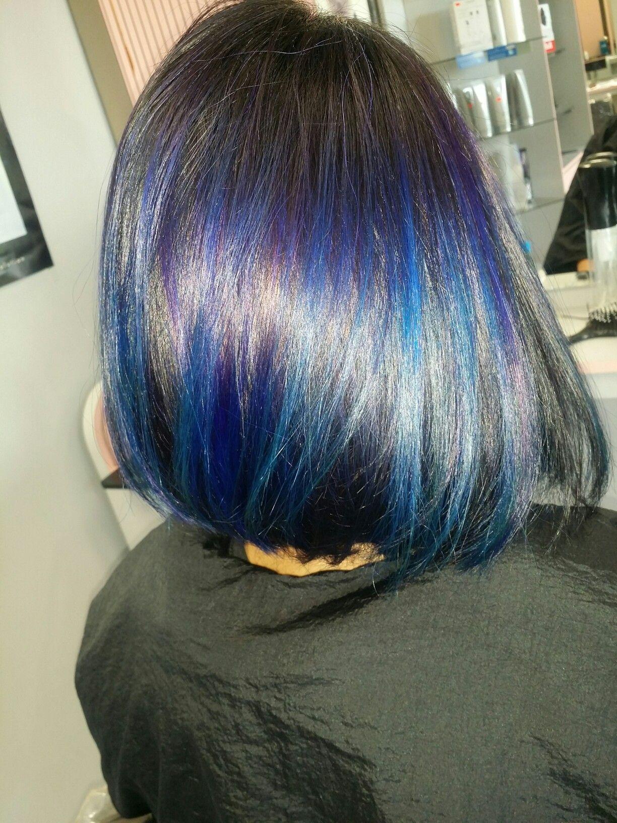 Violet and blue hairdos pinterest