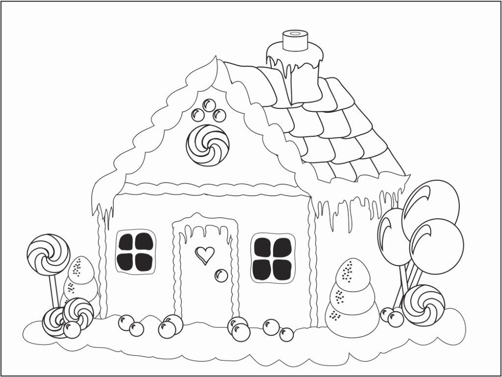 Tree House Coloring Pages Print Unique Gingerbread House Coloring
