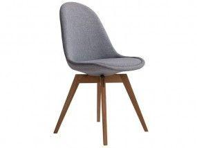 Fantastisch BASIL Stuhl Esszimmer Wartezimmer Stoff Grau U0026 Eiche