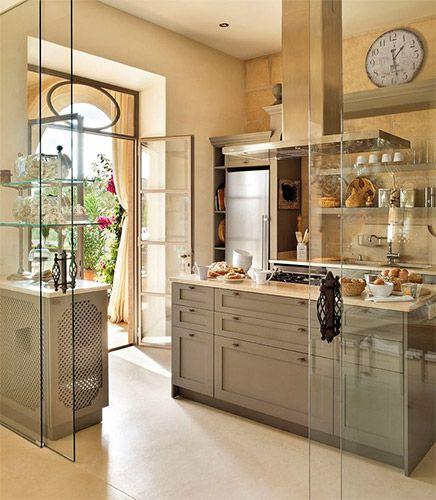 Puertas correderas de cristal para cocinas samzareulo - Cristaleras plegables ...