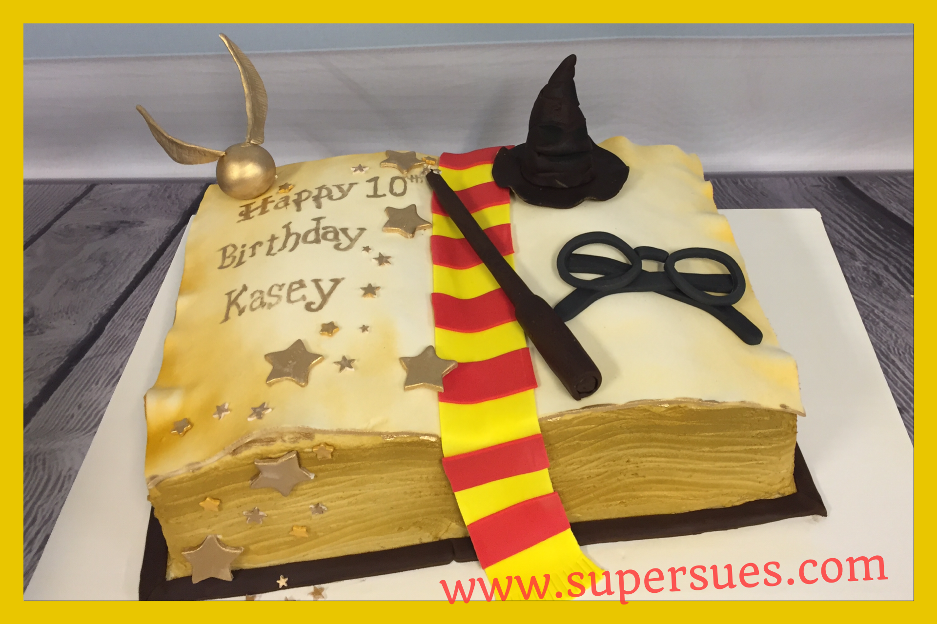 Harry Potter Themed Sheet Cake All Edible Decoration