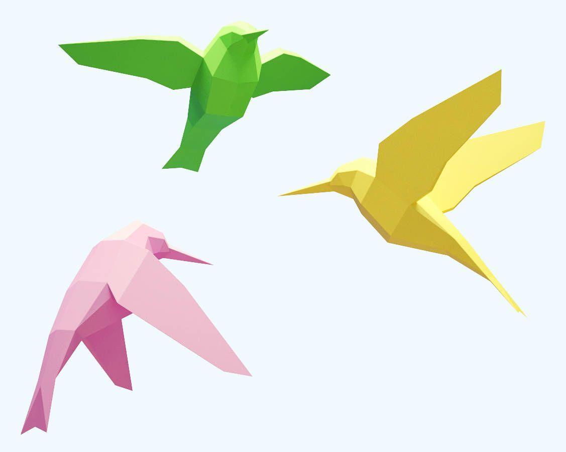 Diy Papercraft 3d Birds Download Papercraft Template Make It