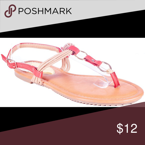 Women Red Slingback Thong Flat Sandals S1924 Women red thong flats sandals. Perfect for walks on the beach. If you are taking a vacation, these sandals will show everyone that you know fashion! Victoria K Shoes Sandals