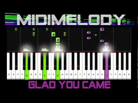 ♬ SLOW Glad You Came by The Wanted Synthesia 50% Piano