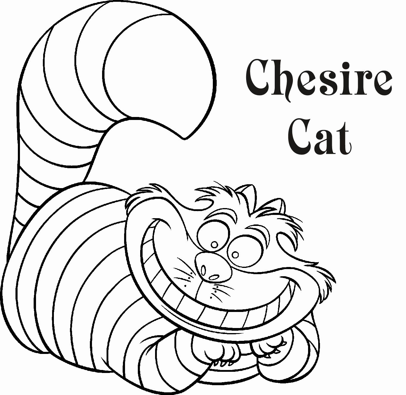24 Cheshire Cat Coloring Page In