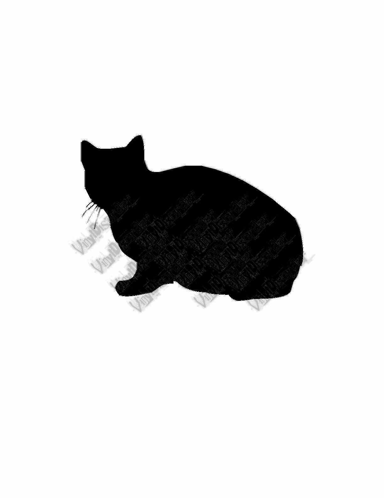 Short Hair Sit Cat Wall Decal Custom Vinyl Decal Cats - Vinyl decal cat pinterest