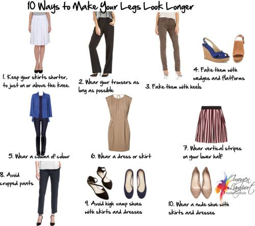 10 ways to make your legs look longer http://www.insideoutstyleblog.com/2014/08/10-ways-to-make-your-legs-look-longer.html