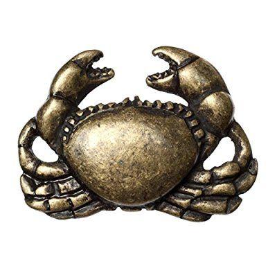 Big Sky Hardware Sierra Lifestyles Crab Knob, Antique Brass
